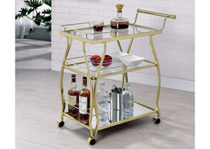 Cedar Park Gold Serving Cart