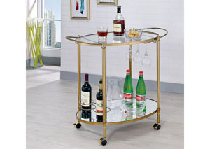 Dendermonde Gold Serving Cart