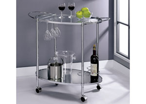 Dendermonde Silver Serving Cart