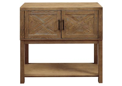 Ariston Natural Tone Hall Way Cabinet w/Open Shelf