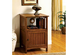 Sanca l Antique Oak Telephone Stand w/Storage