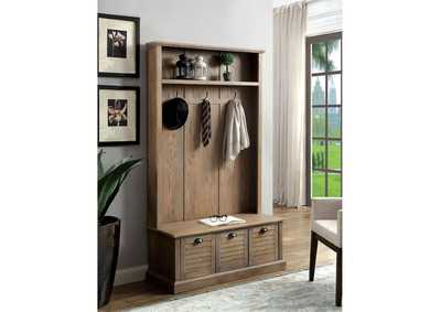 Wineglow Weathered Gray Hallway Cabinet