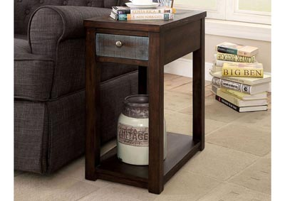 Geraldton Dark Oak/Multi Side Table