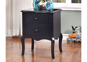 Lexie Blue 2 Drawer Nightstand