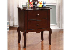 Lexie Espresso 2 Drawer Nightstand