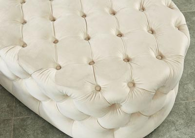 Image for Malina Beige Upholstered Ottoman