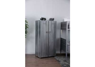 Zaheera Silver Full Metal 5 Shelf Locker