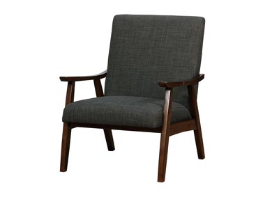 Deena Dark Gray Upholstered Accent Chair