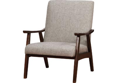 Deena Light Gray Upholstered Accent Chair