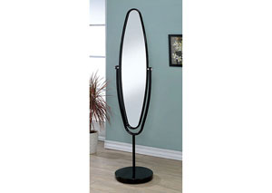 Vanilyn Black Oval Hallway Mirror