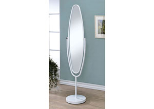 Vanilyn White Oval Hallway Mirror