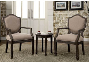 Acfold ll 3 Piece Gray Accent Table & Chair Set