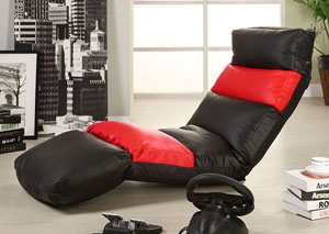 Encore Black & Red Multi-Positional Lounger