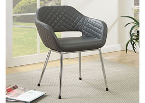 Tasha Gray Leatherette Accent Chair