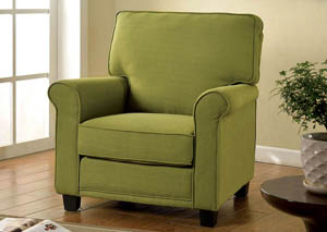 Belem Green Accent Chair w/Rolled Arms