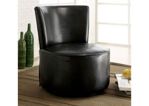 Bay Shore Black PU Accent Chair
