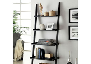 Image for Sion Black 5-Tier Ladder Shelf