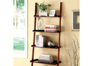 Sion Cherry 5-Tier Ladder Shelf