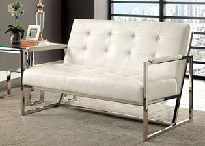 Sienna White Loveseat