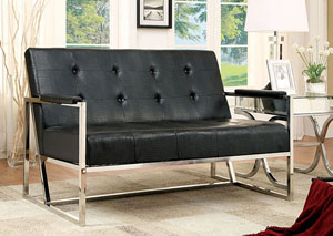 Sienna Black Loveseat