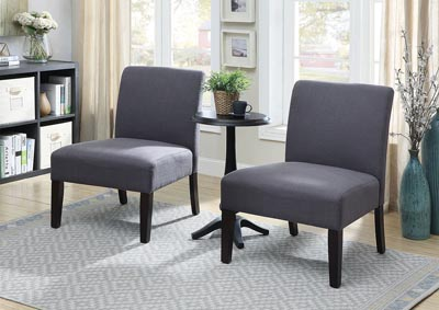 Sudbury Gray Accent Table & Chair Set