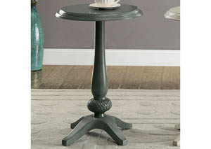 Saira Antique Teal Round Accent Table