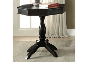 Iliana Antique Black Round Accent Table