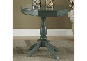 Iliana Antique Teal Round Accent Table