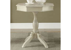 Iliana Antique White Round Accent Table