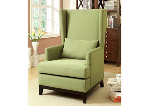 Tremendous Charisma Furniture Stafa Green High Back Accent Chair Creativecarmelina Interior Chair Design Creativecarmelinacom