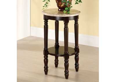 Santa Clarita Round 5-Tier Ladder Shelf Plant Stand w/Marble Top