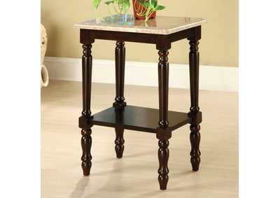Santa Clarita Rectangle 5-Tier Ladder Shelf Plant Stand w/Marble Top