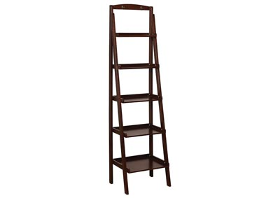 Theron Espresso 5-Tier Ladder Shelf