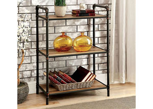 Olga Antique Black Small Display Shelf