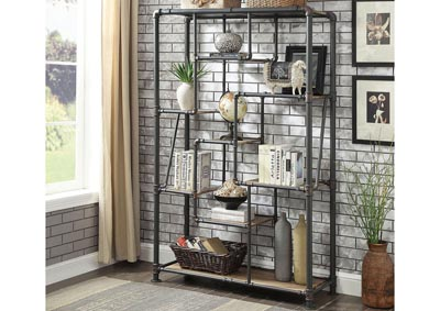 Edgerton Sand Black Tiered Metal Shelf
