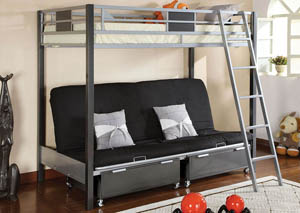 Cletis Twin Metal Bed w/Futon Base