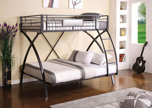 Apollo Twin/Full Metal Bunk Bed