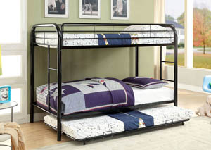 Rainbow Black Twin Metal Bunk Bed