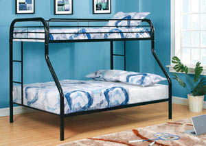 Rainbow Black Twin/Full Metal Bunk Bed