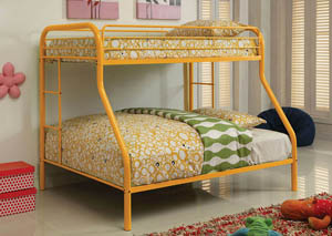 Rainbow Orange Twin/Full Metal Bunk Bed