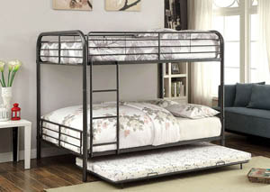 Brocket Gunmetal Full Metal Bunk Bed