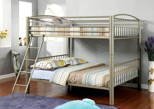 Lovia Metallic Gold Full Metal Bunk Bed