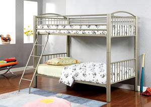Image for Lovia Metallic Gold Twin Metal Bunk Bed