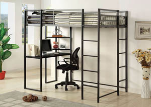 Sherman Twin Metal Bed w/Workstation
