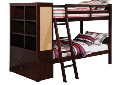 Image for Athena Dark Walnut Twin/Twin Bunk Bed