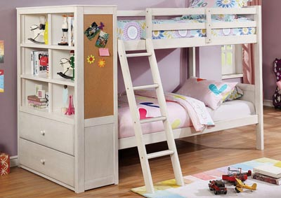 Athena White Twin/Twin Bunk Bed