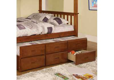 Image for University Oak Twin Trundle w/3 Drawers
