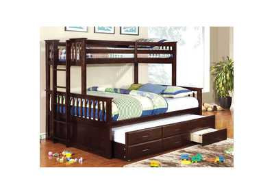 University ll Dark Walnut Twin/Queen Bunk Bed