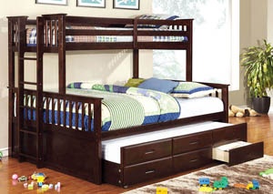 University Dark Walnut Twin/Queen Bunk Bed