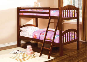 Coney Island Cherry Twin Bunk Bed